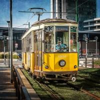 Milano Street Photo - Tram in stazione